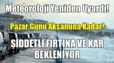 Meteoroloji'den Antalya İçin Yeniden, Şiddetli Fırtına Ve Kar Uyarısı!