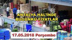 Antalya Hal'inde 17 Mayıs Fiyatları