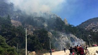 Antalya Olympos'ta Çıkan Orman Yangını Söndürüldü