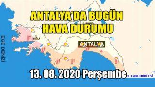 Antalya'da Hava Az Bulutlu ve Açık, Rüzgar Kuzey Yönlerden Orta Kuvvette Esecek