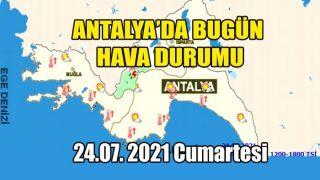 Antalya'da Hava Parçalı Bulutlu, İç Kesimler Öğleden Sonra Mevzii Sağanak Yağışlı Geçecek