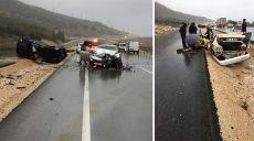 Antalya'da 4 Otomobil Birbirine Girdi, Araçlar Takla Atarak Savruldu: 1 Ölü, 7 Yaralı