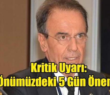 Prof. Dr. Mehmet Ceyhan'dan Kritik Uyarı: 'Önümüzdeki 5 Gün Önemli'