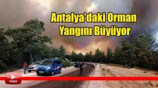 Antalya'daki Orman Yangını Büyüyor